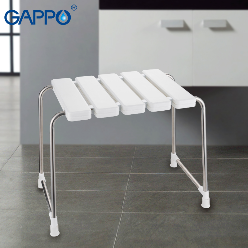 Gappo Wall Mounted Shower Seats Folding Shower Seat Chair Bench Bathroom Toilet Chair Bath Shower Stool To Suit The PeopleS Convenience Home Improvement Bathroom Safety & Accessories