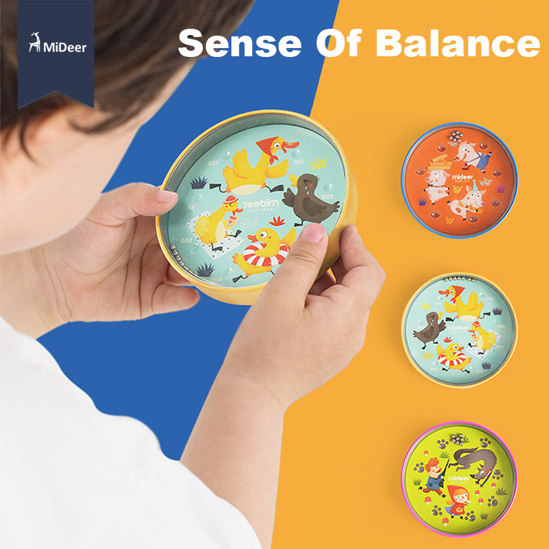 MiDeer Kids Balance Ball Maze Board Fairy Tales Beads Escape Hand Held Fun Skill Game Puzzle Educational Toys For Children Gift