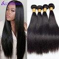 Ali moda Brazilian Virgin hair straight 4pcs Brazilian Hair Weave Bundles Brazilian straight hair Human hair weave bundles