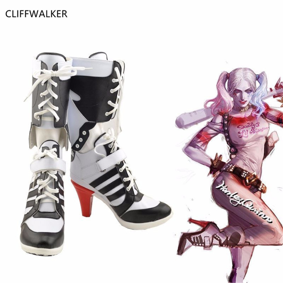 Harley Quinn Women Slim Boots Shoes New Women Boots Sexy Snow Boots Womens Winter Thigh High Boots Shoes Woman