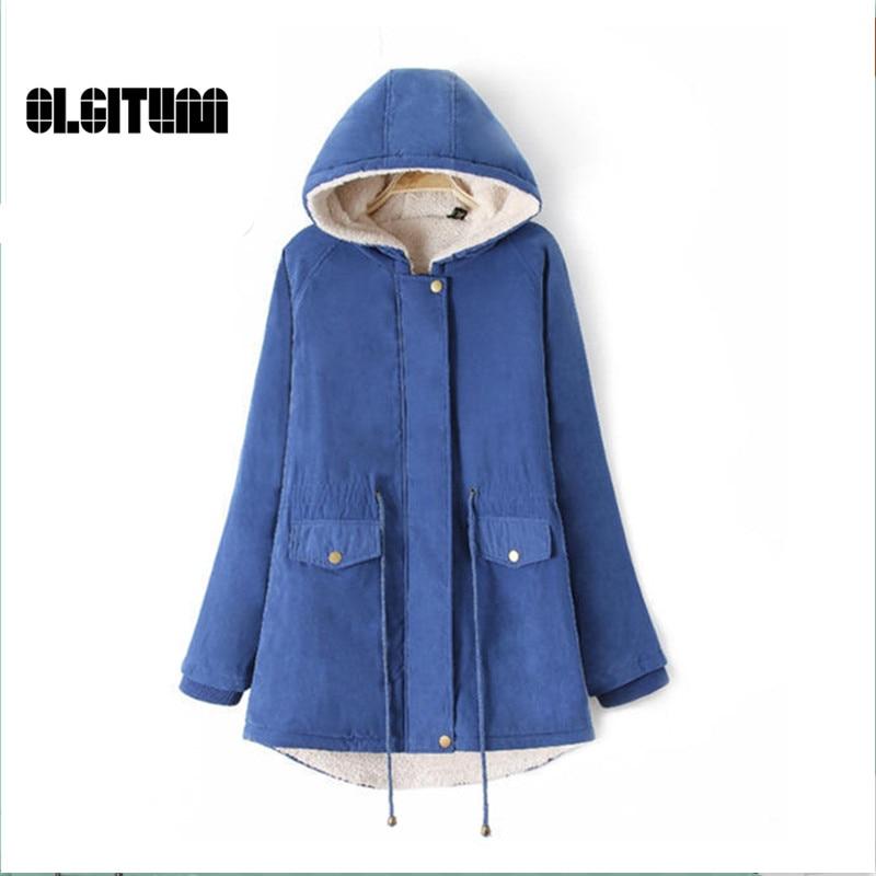 ФОТО 2016 fashion new  Women's autumn &winter yards hooded drawstring casual lamb wool cotton jacket