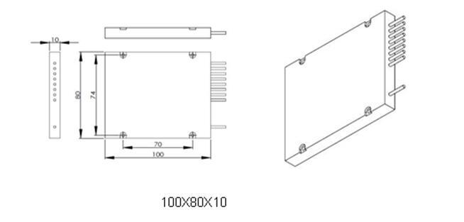 100G PM fiber DWDM 1x4,CH32,CH33,CH34,CH35