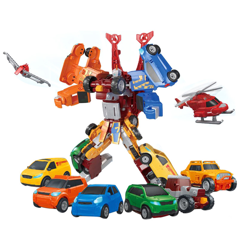 NEW Tobot 7 In 1 Transformation Robot Toy Anime Tobot Character 7 Cars Merge Deformation Robot