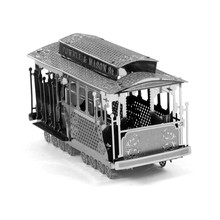 Tram 3D Metal Puzzle DIY Assemble Scale Model Transportation Stainless Steel Learning Education Toy Jigsaw Puzzle