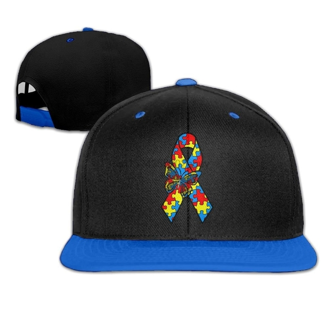 61992cc5 Unisex Autism Awareness Ribbon Baseball Hat Vintage Cotton Strapback Cap