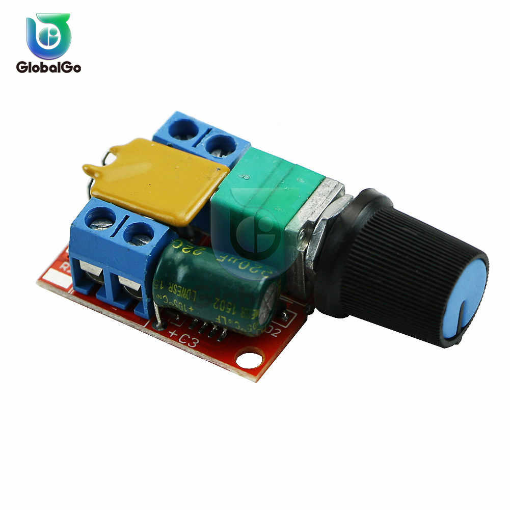 DC 3V-35V 90W 5A PWM Speed Controller DC Motor Adjustable LED Mini Speed Control Governor Switch Module