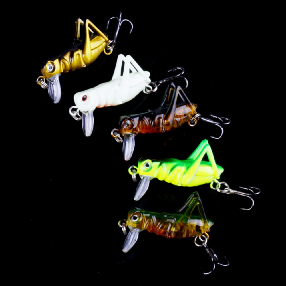 5Pcs/set Flying Insects Sea Fishing Hooks Fishing Tackle Jig Wobbler Lure Hard Bait Artificial Bait Grasshopper fishing lure