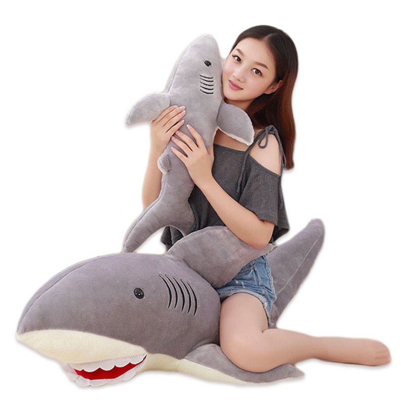 Plush Shark Pillow Toy Cute Whale Stuffed Soft Plush Animal Toy Pillows Children Adult Birthday Gifts 6