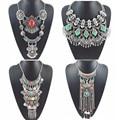 2016 Trendy Necklaces & Pendant Vintage Turquoise Maxi Choker Statement Silver Collier Female Boho Big Fashion Neckalce Women