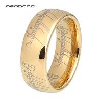 Золотой Властелин Кольца 8 мм ширина с комфортом подходят высокого качества полированный блестящий вольфрам карбид кольца для мужчин и жен...