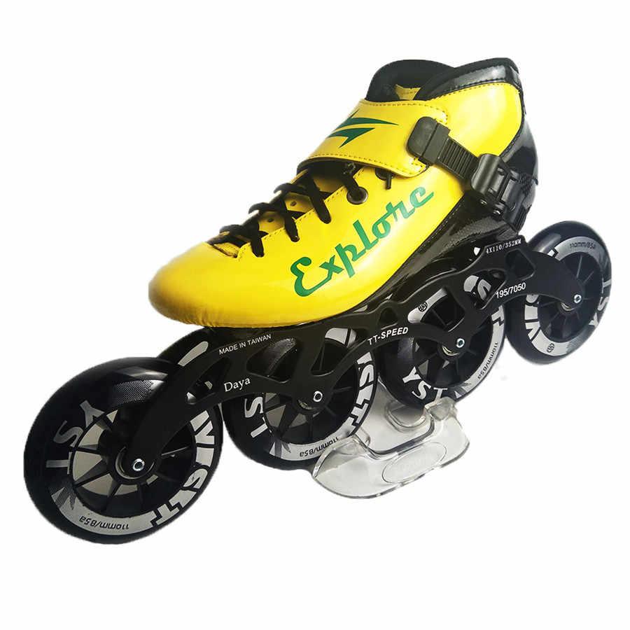 Geschwindigkeit Inline Skates Kohlenstoff Faser Professionelle 4*100/110mm Wettbewerb Skates 4 Räder Racing Skating Patines Ähnliche powerslide