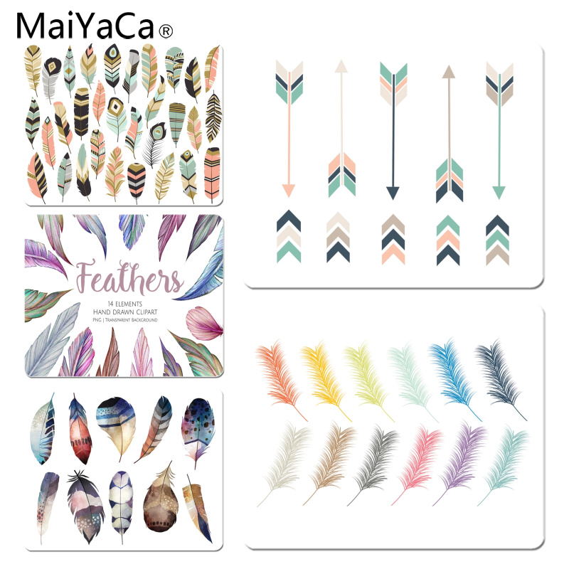 MaiYaCa Beautiful Anime Feather Art Customized laptop Gaming mouse pad Size for 180x220x2mm and 250x290x2mm Small Mousepad