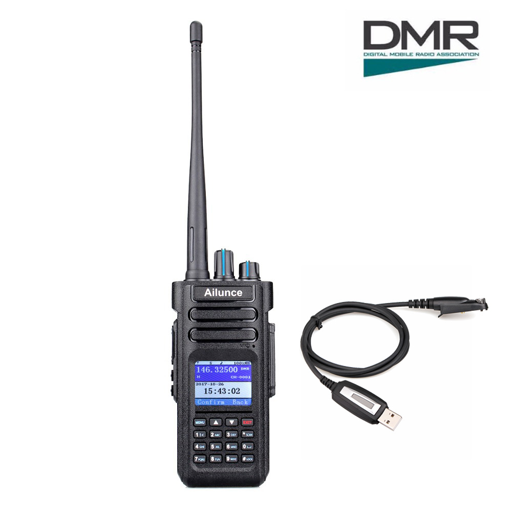 Retevis Ailunce HD1 Dual Band DMR Digital Walkie Talkie DCDM TDMA VHF - Рації