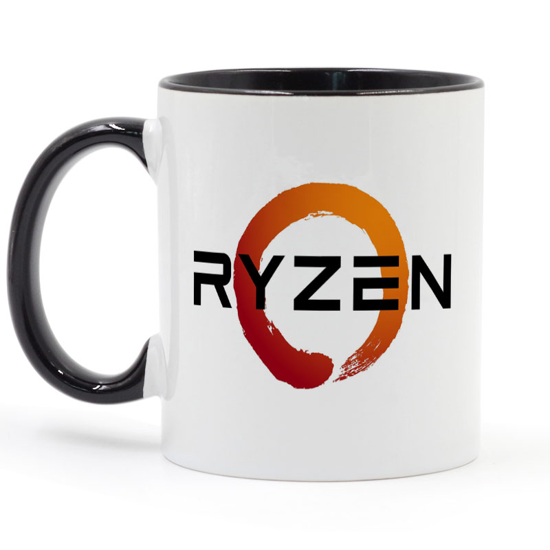 PC CPU Uprocessor AMD RYZEN Mug Coffee Ceramic Cup Creative DIY Gifts Home Decor Mugs 11oz T1550