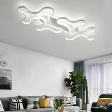 LICAN DIY โคมไฟเพดาน LED โมเดิร์นสำหรับห้องนอนห้องนอน luster de plafond moderne โคมไฟ plafonnier สีดำโคมไฟเพดาน LED