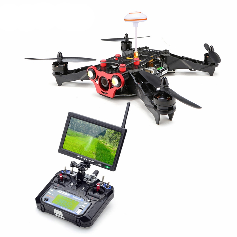 Eachine Racer 250 FPV Drone w/ Eachine I6 2.4G 6CH Transmitter 7 Inch 32CH Monitor HD Camera RTF RC Multicopter