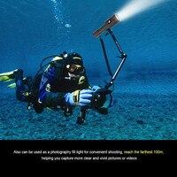 Diving Flashlight L2 LED Scuba Underwater Brightness Waterproof 100m Light Torch Accessories Black Rechargable #3O16