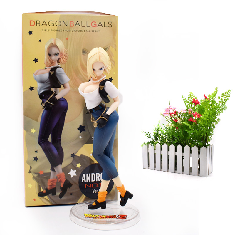 Anime <font><b>Dragon</b></font> <font><b>Ball</b></font> Z ANDROID NO 18 Lazuli Action <font><b>Figure</b></font> PVC Figurine Toy Gals <font><b>Sexy</b></font> Girl Collectible Model Great Birthday Gift image