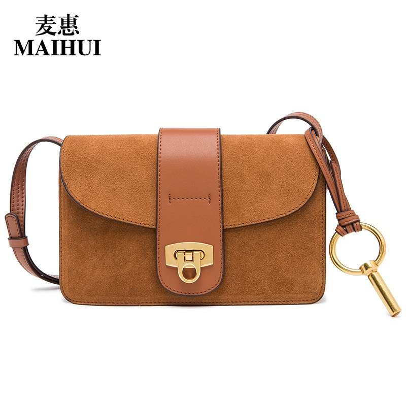 MAIHUI shoulder crossbody bags for women messenger 2017 new fashion real cow genuine leather high quality small solid flap bag fashion women messenger bags real leather designer ladies shoulder crossbody bags genuine cow leather small mini bags for women