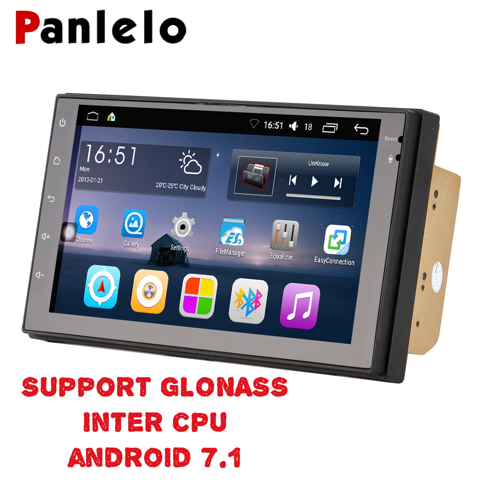 Panlelo 2 Din Android 6.0 Intel CPU Support GLONASS Car Stereo 7 Inch Quad Core 2din Head Unit GPS Navigation Audio Radio quad 4 core 7 inch 2 din android 7 1 car audio non dvd stereo radio gps 3g wifi gps navigation head unit for universal car