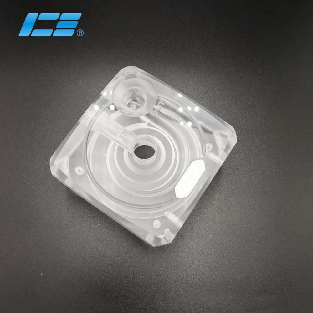 High Quality Transparent,Black IceMan Cooler water cooling D5 Pump Cover for computer case cooler refit d5 pump cover