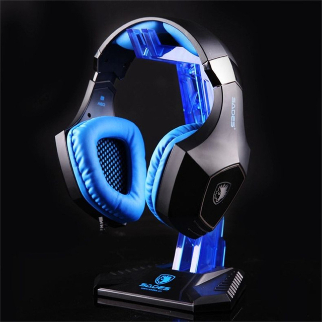 Fashion Sades Gaming Acrylic Headphone Stand Headset Hanger Shelf Rack Earphone Display Holder for Senheiser Headphones Gamer