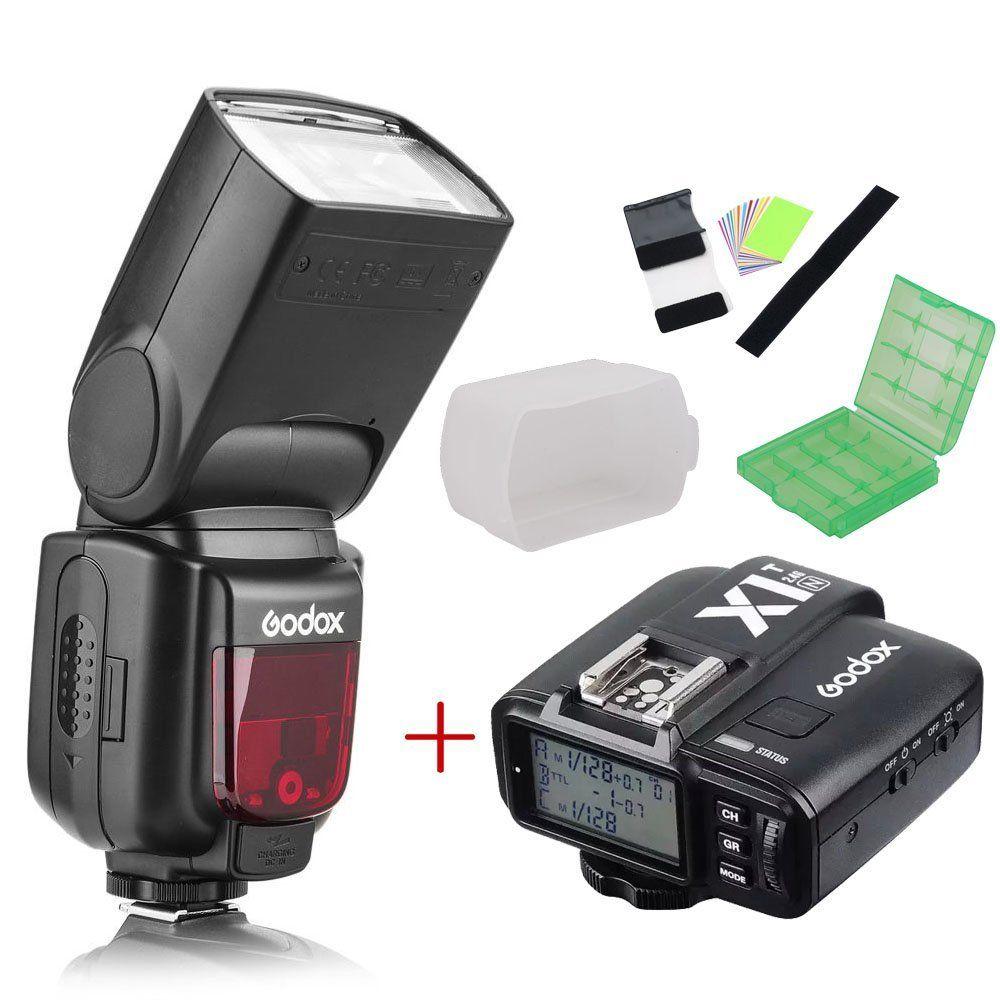 Godox TT685N 2.4G HSS i-TTL GN60 Wireless Flash + X1T-N TTL Trigger for Nikon D800 D700 D7100 D7000 D5200 D5100 D70S D810 D90 godox x1t n ttl 2 4g wireless flash trigger transmitter for nikon dslr camera d7100 d90 d750 godox tt685n tt600 flash gift kit