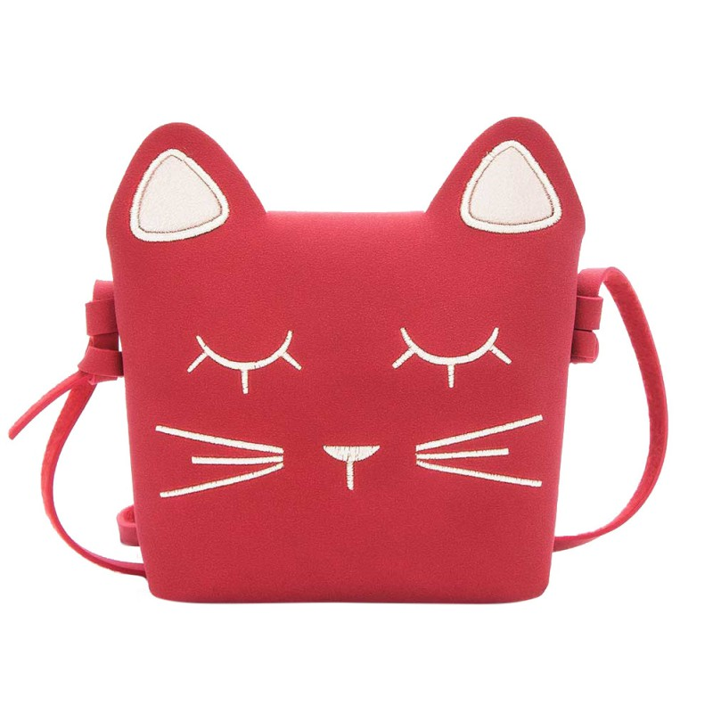 Lovely Cat Mini PU Bags for Girls Messenger Bags Princess Style Kids for Kids Wallets so cute for baby Сумка