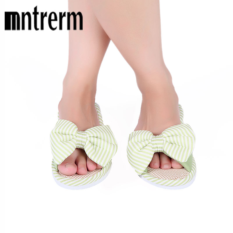 Mntrerm Hot Sale Spring And Autumn Bow House Slippers Women's Indoor Shoes Fashion Flax Home Slippers Lucy Refers To At Home 6 4 4m bounce house combo pool and slide used commercial bounce houses for sale