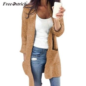 8bfd881d5aa9 Las mujeres con capucha suelto suéter de punto Cardigan largo abrigo de gran  tamaño abrigo S-2XL