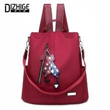 Купить с кэшбэком DIZHIGE Brand Fashion Waterproof Oxford Women Anti-theft Backpack High Quality School Bag For Women Multifunctional Travel Bags