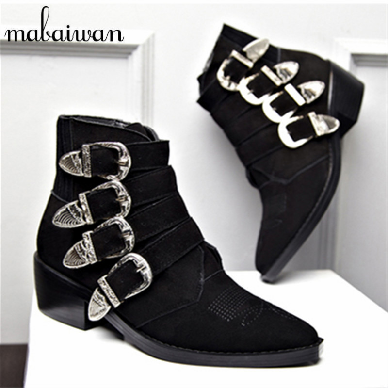 Flat Black Suede Ankle Boots Promotion-Shop for Promotional Flat ...