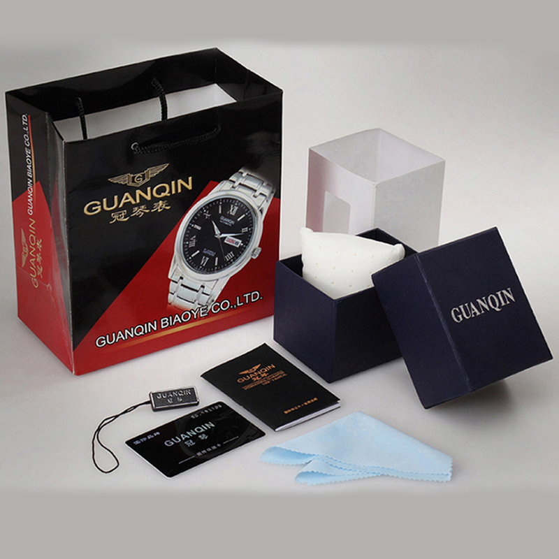 Fashion Black Square GUANQIN Watch Gift Box, It will be Sale with GUANQIN Watches, will not be Sale Separately.
