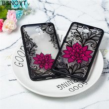 For Meizu M3 Note Case Lace Rose Flower Silicone Anti-knock Phone 3 Cover Funda BSNOVT