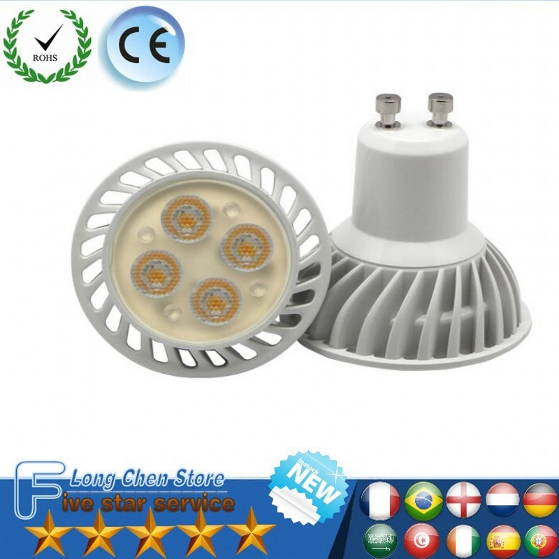 LED Super Bright efficient light 12W GU10 MR16 12V E27 220V/85-265V Led Spotlights Warm/Cool White LED lamp lighting LED Bulbs