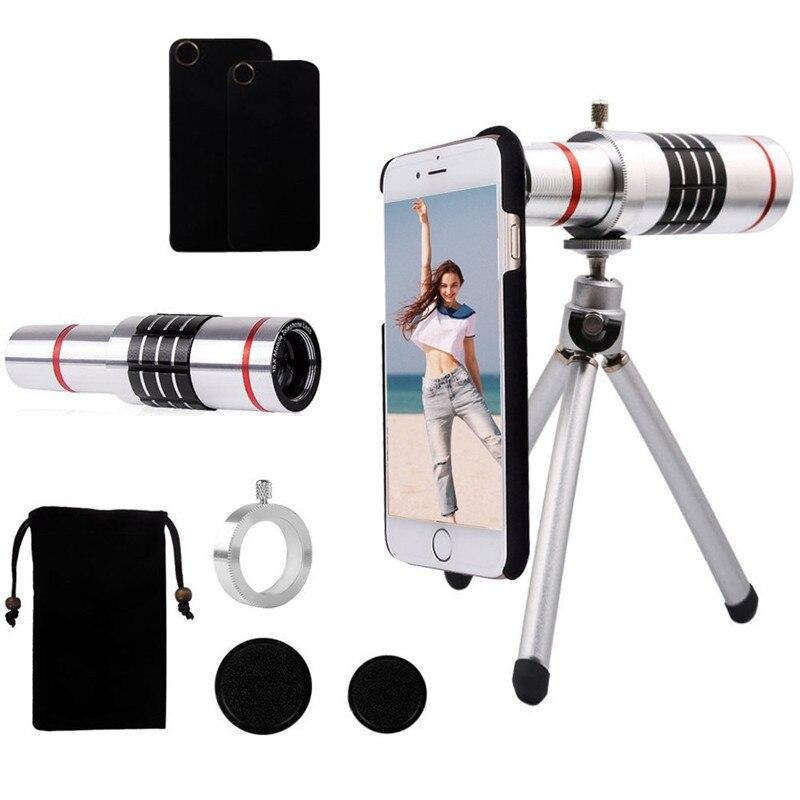 18x telescopio óptico Zoom Smartphone objetivo lente de la Cámara + trípode portátil para Samsung para teléfonos móviles Iphone - 6
