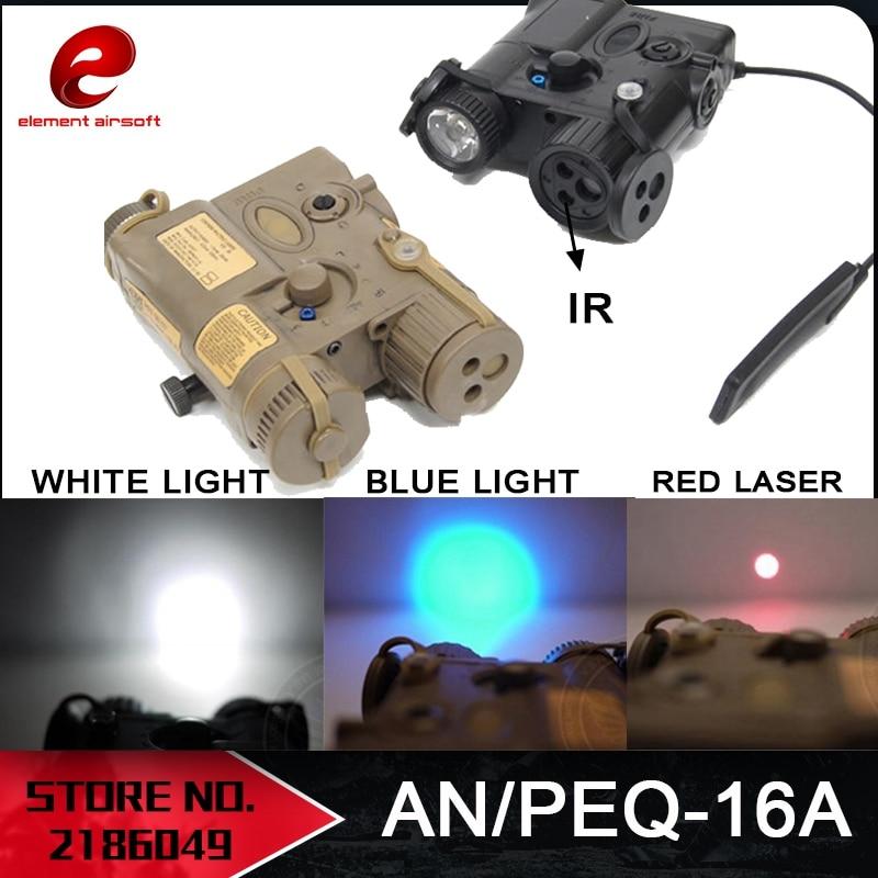 Element AN PEQ-16A Intergrated Pointer/Illuminator PEQ Red Laser/IR/White Light/Blue light Tactical PEQ 16A LA PEQ Light EX176 рулевая blunt intergrated headset black