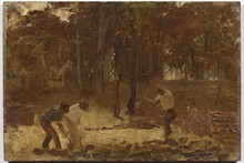 Unframed Canvas Prints - Turning The Soil (Sketch For The Charcoal Burners) - Tom Roberts