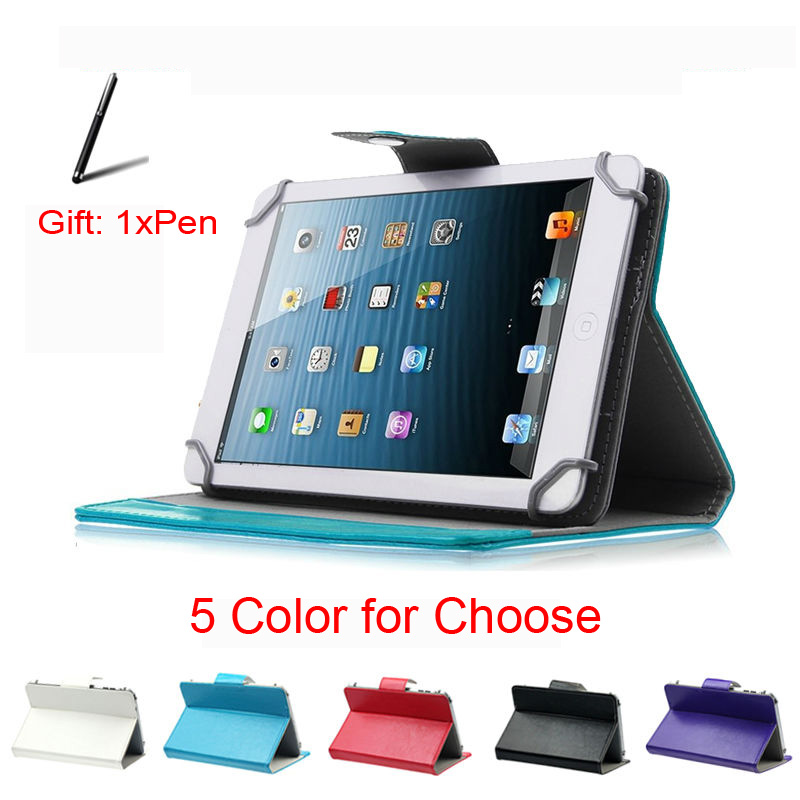 For Prestigio Multipad 4 Diamond 3g Pmt7177 10.1 Inch 360 Degree Rotating Universal Tablet Pu Leather Cover Case Free Pen Tablet Accessories