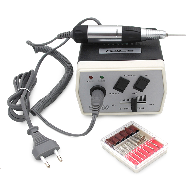 30000 rpm Equipo de uñas negro Nail Art Drill Herramientas de manicura pedicura acrílicos Nail art Drill Pen Machine Set