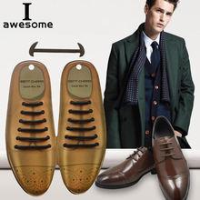 Кожаные шнурки для мужчин и женщин эластичные силиконовые 3