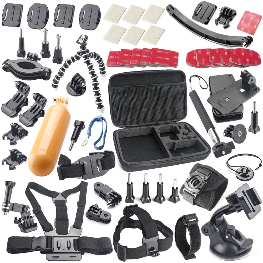 Gopro Hero Camera SJ4000 SJ5000 SJ6000 Sport Camera Accessory Kit <font><b>Car</b></font> <font><b>Suction</b></font> <font><b>Cup</b></font> <font><b>Mount</b></font> <font><b>Holder</b></font> + 360 <font><b>Rotary</b></font> Clip <font><b>Mount</b></font>