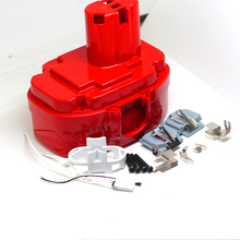 18V Ni-MH Ni-CD Rechargeable Batteries Pack Case for Makita 4334D 1822 1834 1835 192829-9 192826-5 192827-3 Red