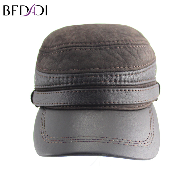 a383d16e9ed BFDADI New Fashion High Quality Fall Winter Men Faux Leather Hat Cap Casual  Snapback Hat Mens Baseball Cap Big Size 62cm Brown