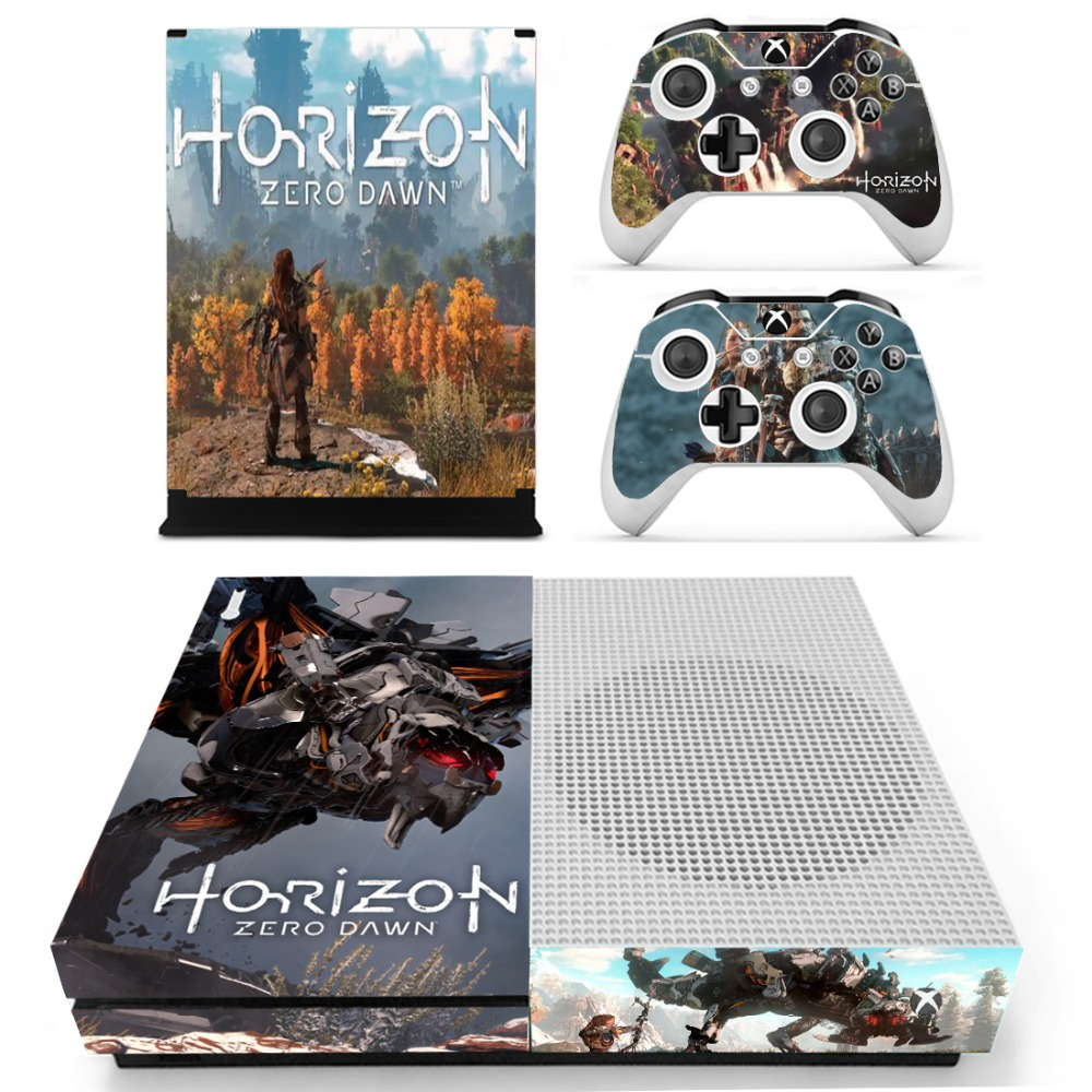 Horizonzero Dawn Vinyl Skin Sticker Decals For The Xbox One S Sony Playstation 4 Horizon Zero Reg 3 Console With Two Wireless Controller In Stickers From Consumer Electronics On