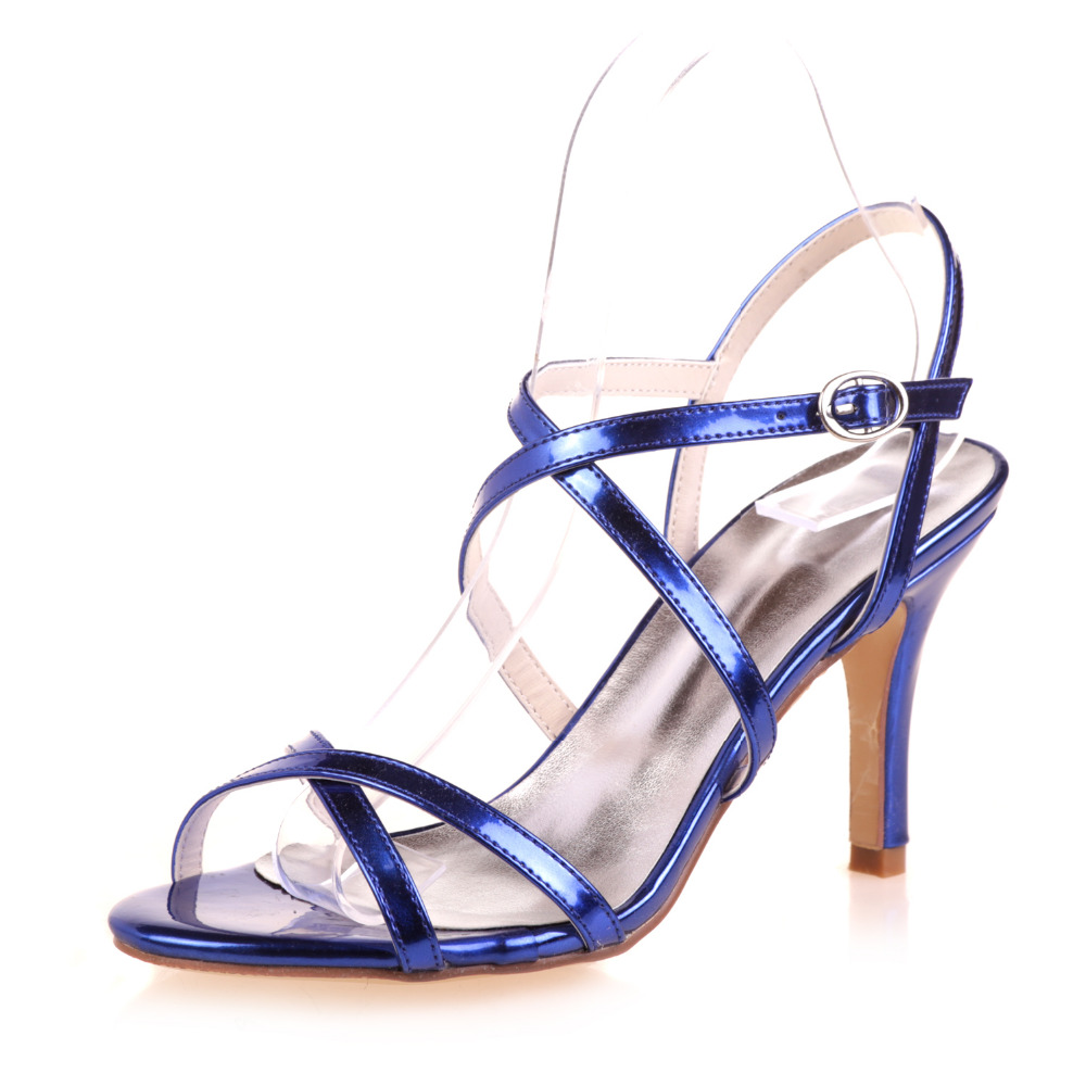 eb53292e89e42 Creativesugar Metallic gold silver blue sandal sexy crossed strap summer  wedding cocktail party lady dress shoes 8.5cm high heel-in High Heels from  Shoes on ...