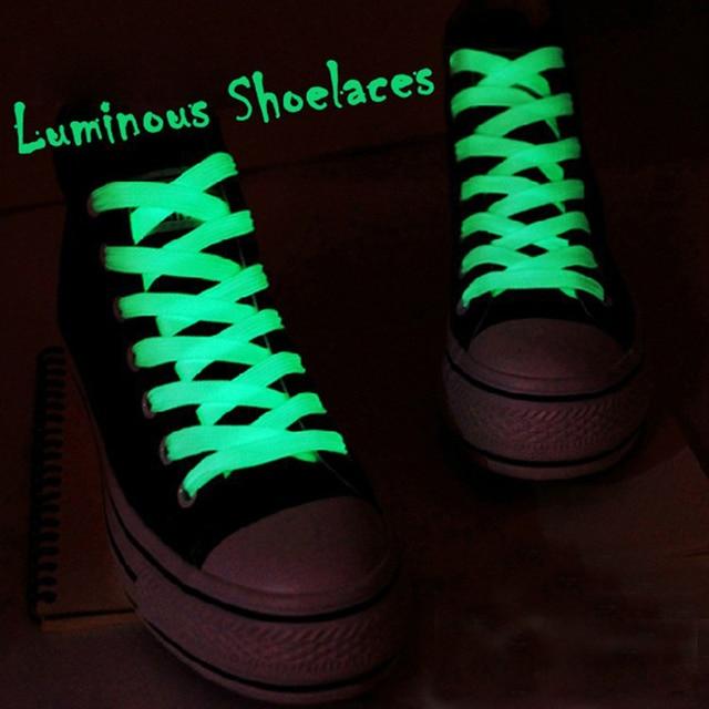 Color Fluorescentes Brillan Par Oscuridad Atlético Noche Planos Cordones La En Luminosos Venta Deportivos 1 Deporte De Zapatos ZuPOkXi