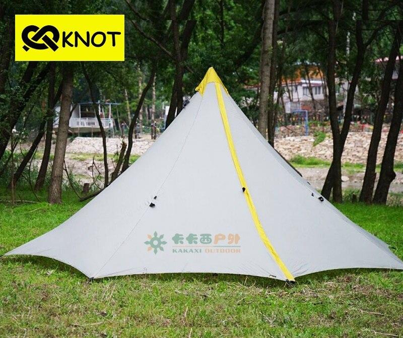 4 человека Ultrlight палатка barraca Кемпинг палатки 20D с обеих сторон Силиконовые Большой лагерь tente 860 г