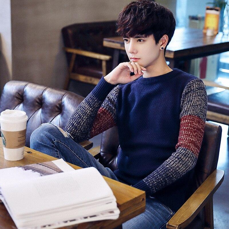 Зеленый Для мужчин Suetter рождественский джемпер мужской свитер некрасиво жилет мужской вязаный плакат корейский человек свитер Sweters m07