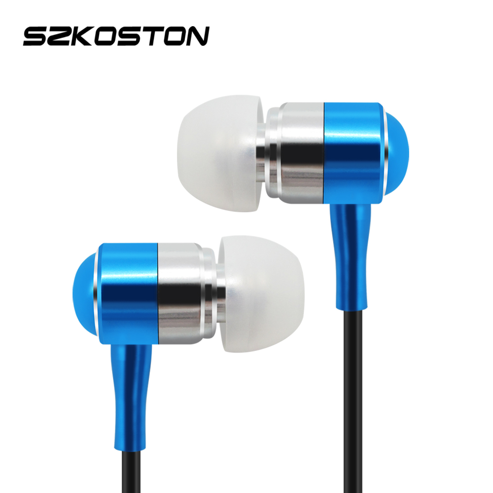 KST Stereo Metal Earphone With Volume+- Button & HD Microphone & 1.2m Earphones Wire & Gold-Plated Plug Handsfree For All Phone kst x7 metal earphone 3d stereo with mic